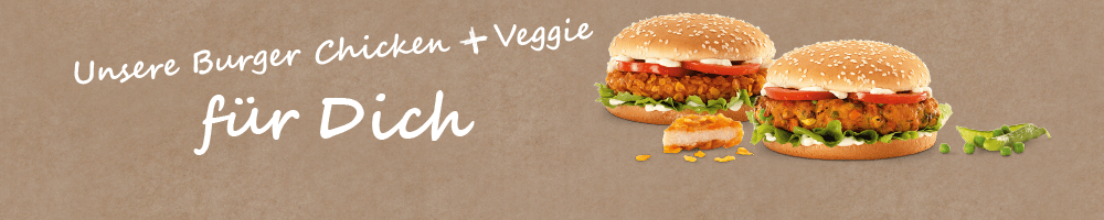 Burger mit Chicken / Veggie