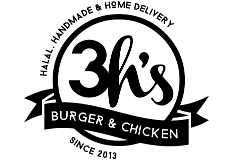 logo 3h's burger & chicken